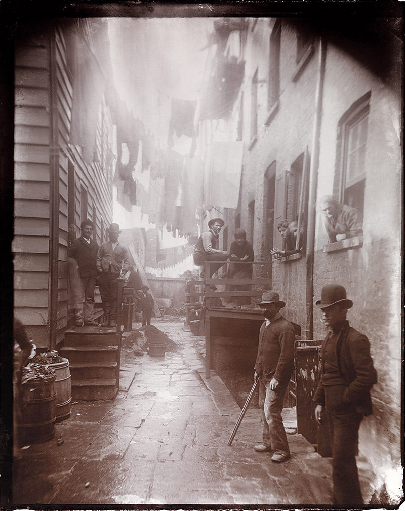 Bandits Roost 59½ Mulberry Street Jacob Riis circa 1888