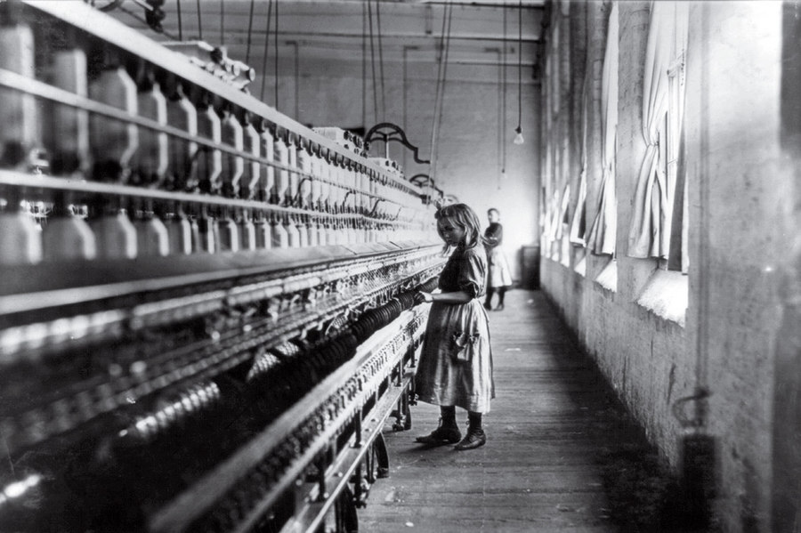 Cotton Mill Girl Lewis Hine 1908